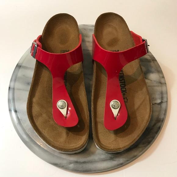 "3f26904cae07 Birkenstock Shoes - Birkenstock ""gizeh"" tango red sandals"